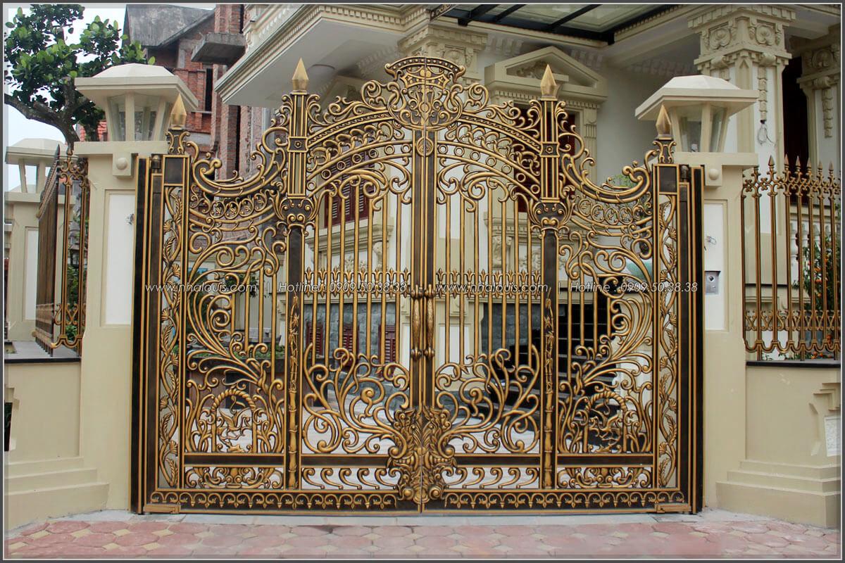 Lắp đặt và sơn hoàn thiện cửa cổng hợp kim nhôm đúc Báo Giá Thi Công Hoàn Thiện - 10
