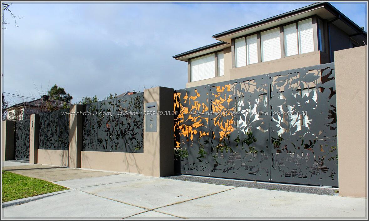 Lắp đặt và sơn hoàn thiện cửa cổng thép tạo hình cắt bằng CNC Báo Giá Thi Công Hoàn Thiện - 11