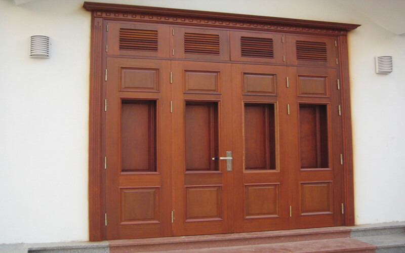 Cửa đi bằng gỗ tự nhiên Báo Giá Thi Công Hoàn Thiện - 19