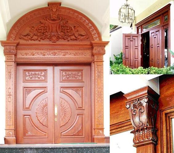 Cửa đi bằng gỗ tự nhiên Báo Giá Thi Công Hoàn Thiện - 22