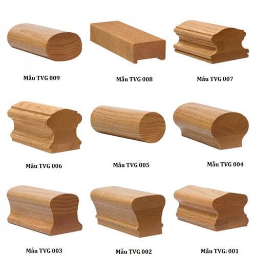 Lan can cầu thang kính tay vịn gỗ đỏ Báo Giá Thi Công Hoàn Thiện - 37