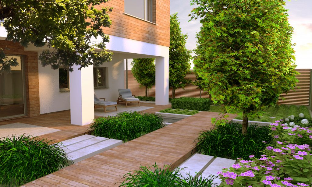 Tạo điểm nhấn cho biệt thự sân vườn đẹp với lối đi ấn tượng