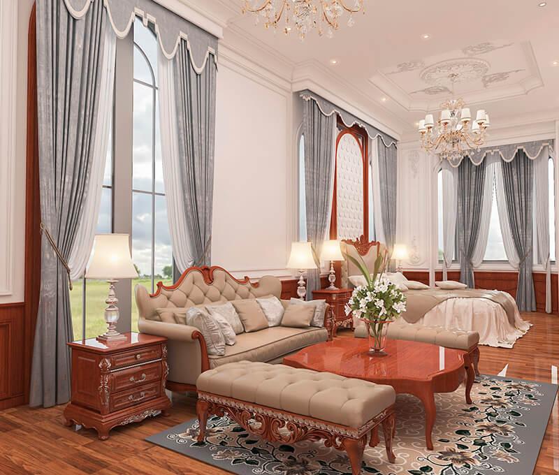 Hé lộ những mẫu phòng ngủ đúng chất phong cách cổ điển