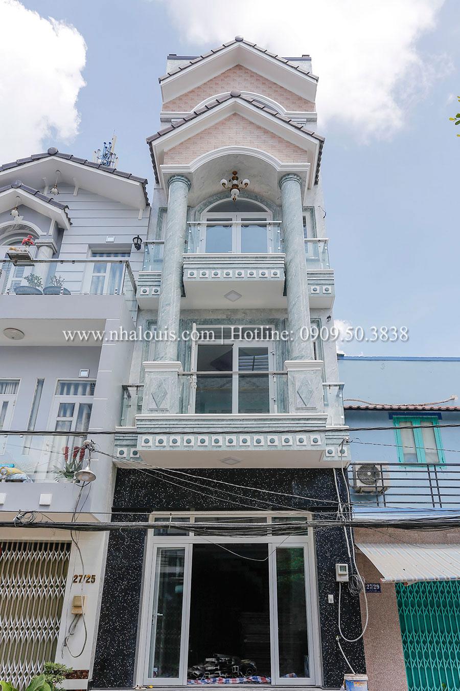 Hoàn thiện và vệ sinh mẫu nhà phố tân cổ điển tại Bình Tân