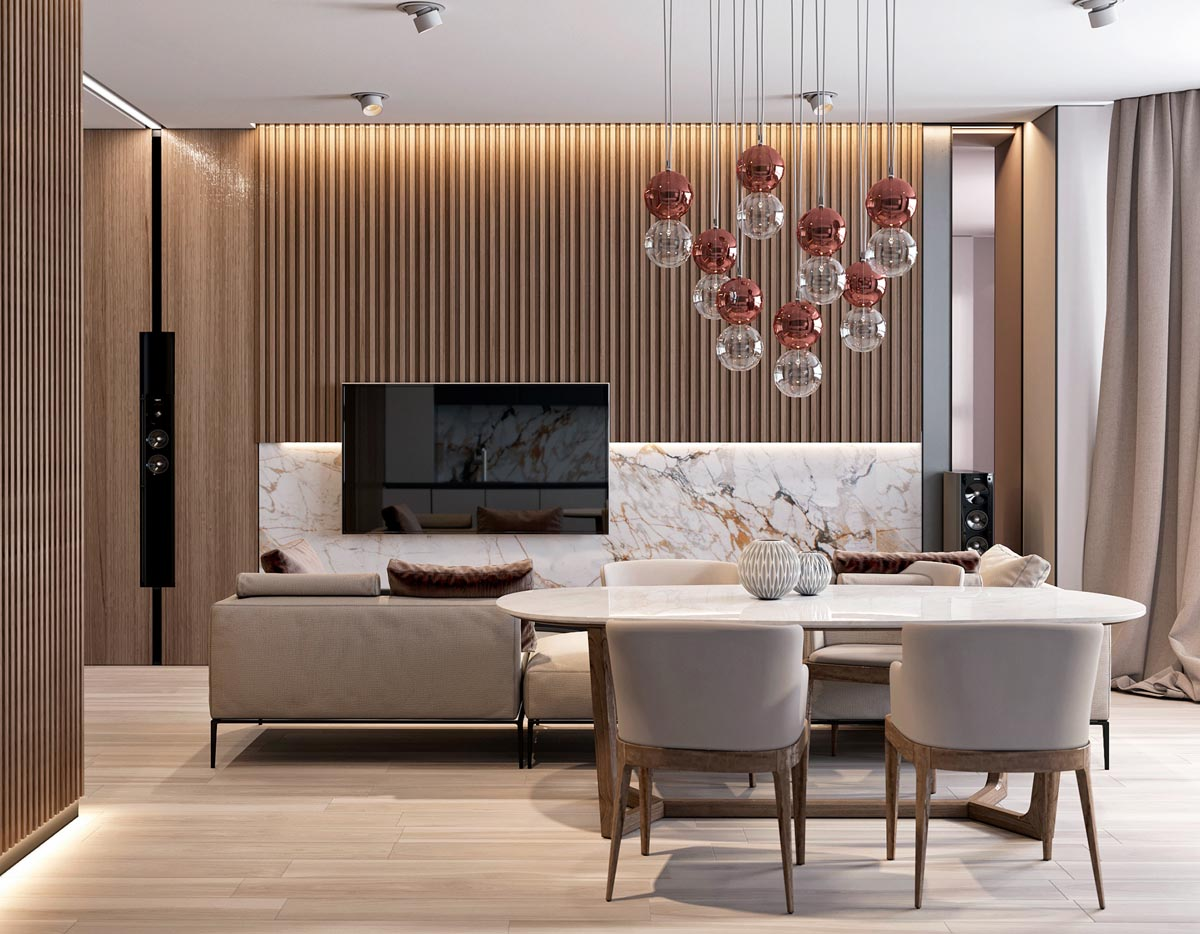 lưu ý thuê thiết kế thi công nội thất chung cư 2