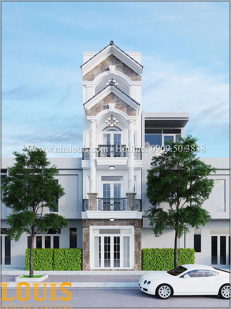 Mặt tiền Mẫu nhà phố tân cổ điển 4 tầng độc đáo tại Bình Tân - 01
