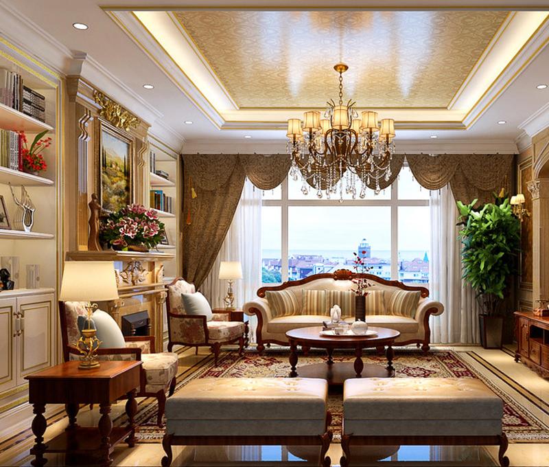 mẫu phòng khách phong cách cổ điển đầy đẳng cấp