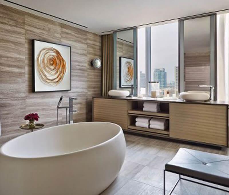 Mẹo thiết kế phòng tắm cực chuẩn cho nhà 1 trệt 2 lầu đẹp