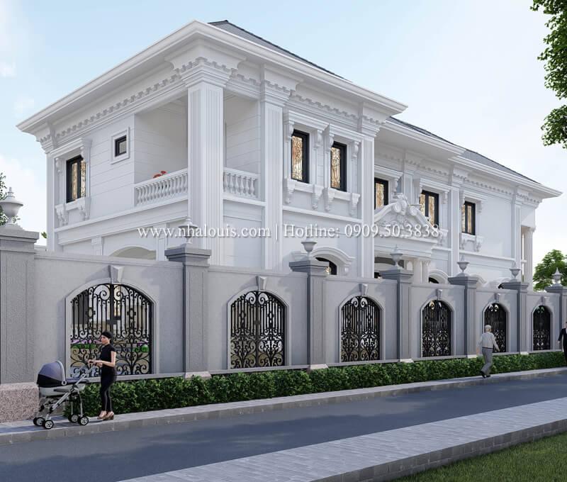 Phối cảnh 3D kiến trúc tân cổ điển của biệt thự tại Tây Ninh
