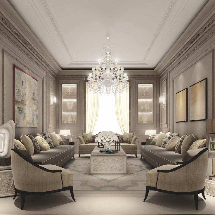 phòng khách phong cách cổ điển với nét đơn giản