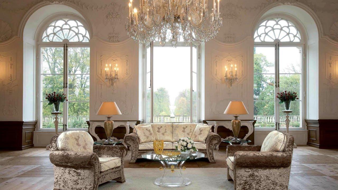 phòng khách phong cách cổ điển màu sắc trắng nhẹ