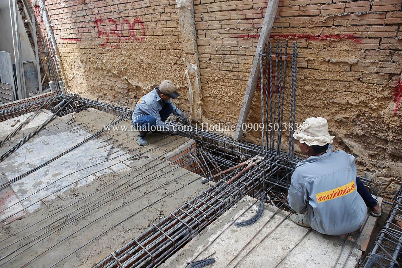 Thi công nhà ống mặt tiền 4m tại quận Tân Bình