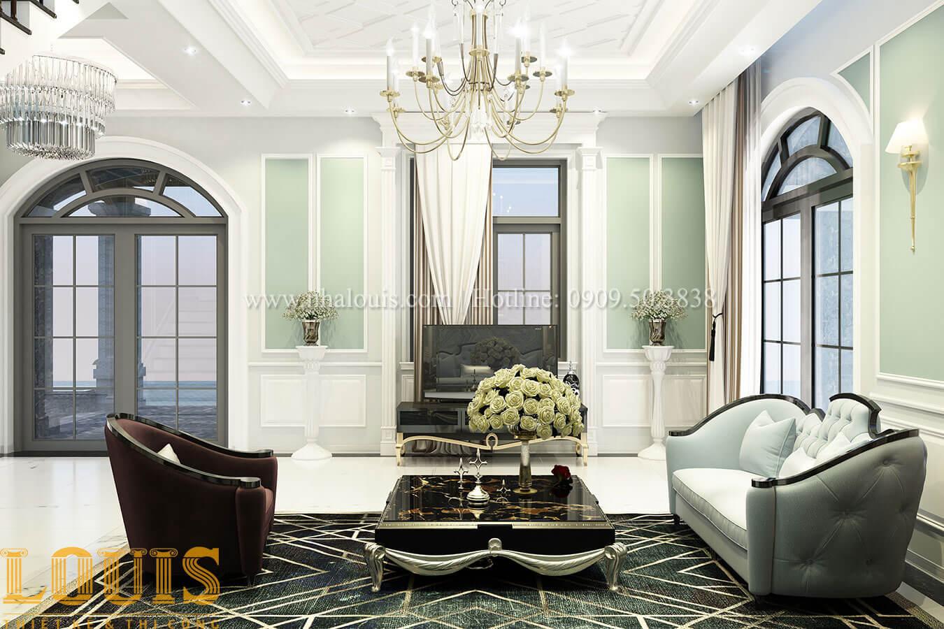Phòng khách Thiết kế biệt thự 3 tầng đẹp có sân vườn ở miền quê Đồng Nai - 13