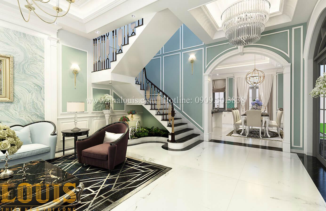 Tiểu cảnh cầu thang Thiết kế biệt thự 3 tầng đẹp có sân vườn ở miền quê Đồng Nai - 15