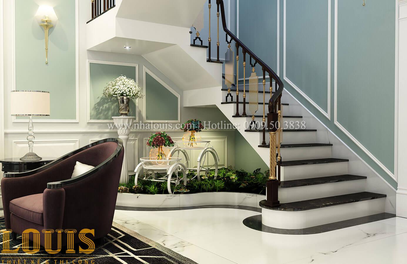 Tiểu cảnh cầu thang Thiết kế biệt thự 3 tầng đẹp có sân vườn ở miền quê Đồng Nai - 16