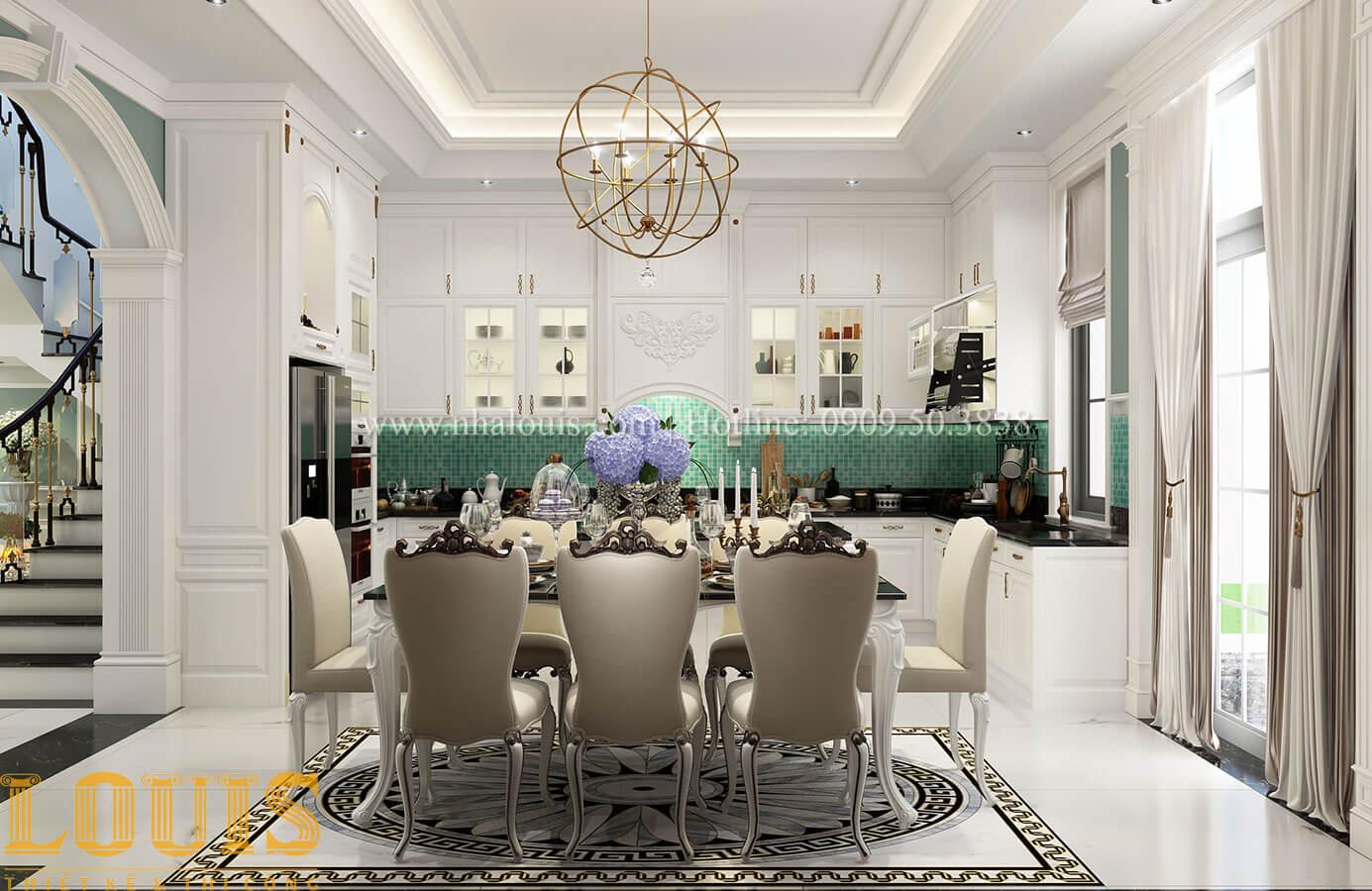 Bếp và phòng ăn Thiết kế biệt thự 3 tầng đẹp có sân vườn ở miền quê Đồng Nai - 17