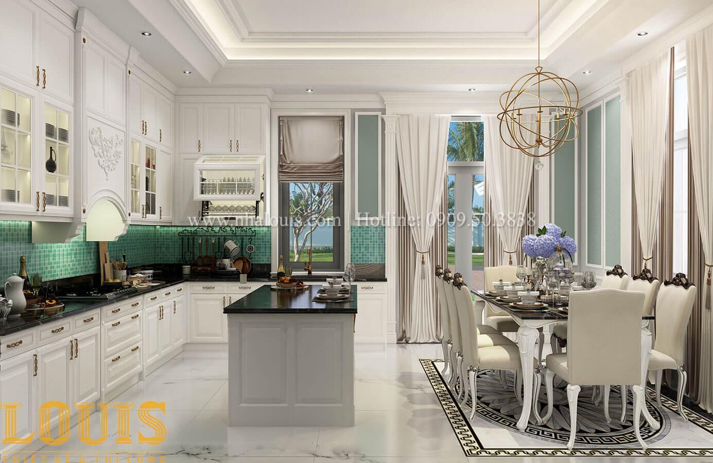 Bếp và phòng ăn Thiết kế biệt thự 3 tầng đẹp có sân vườn ở miền quê Đồng Nai - 18