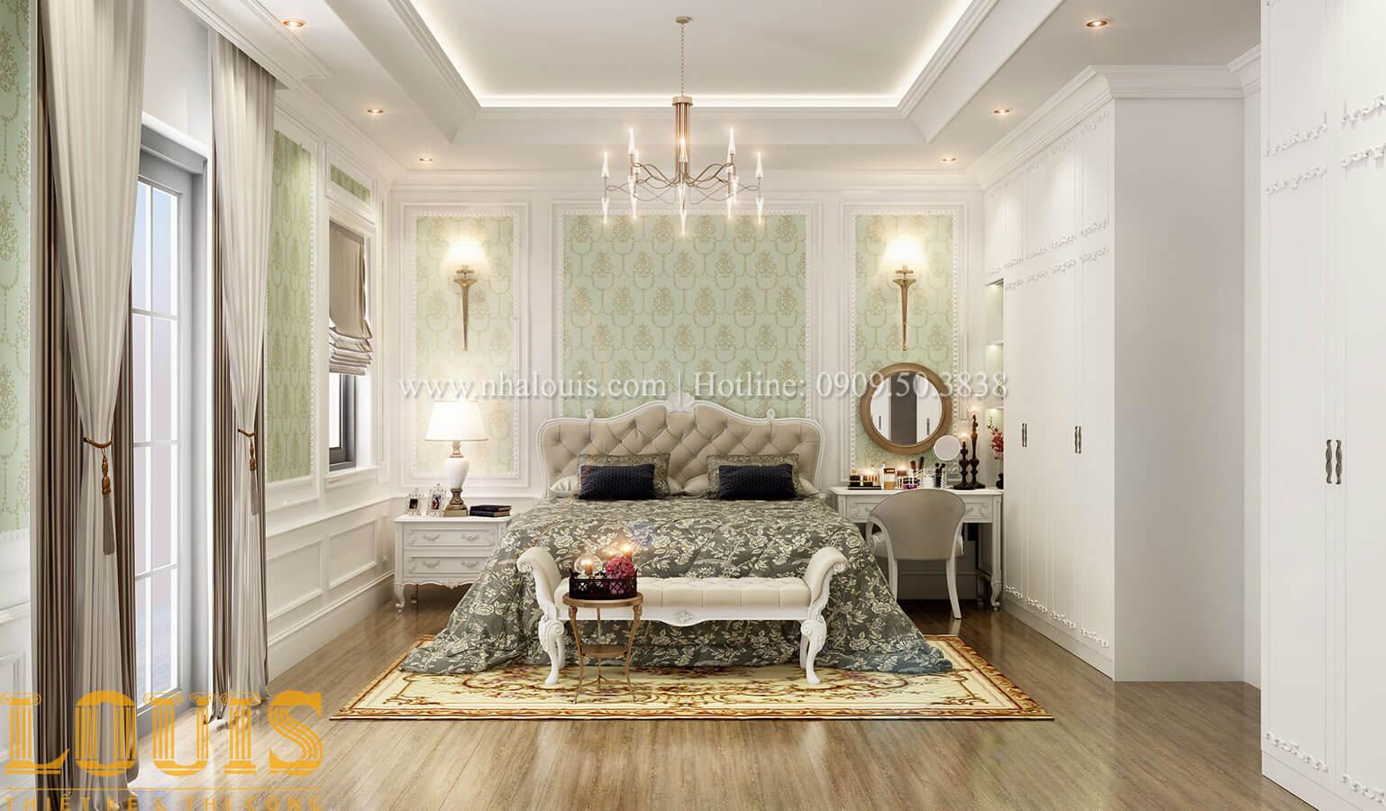 Phòng ngủ master Thiết kế biệt thự 3 tầng đẹp có sân vườn ở miền quê Đồng Nai - 21