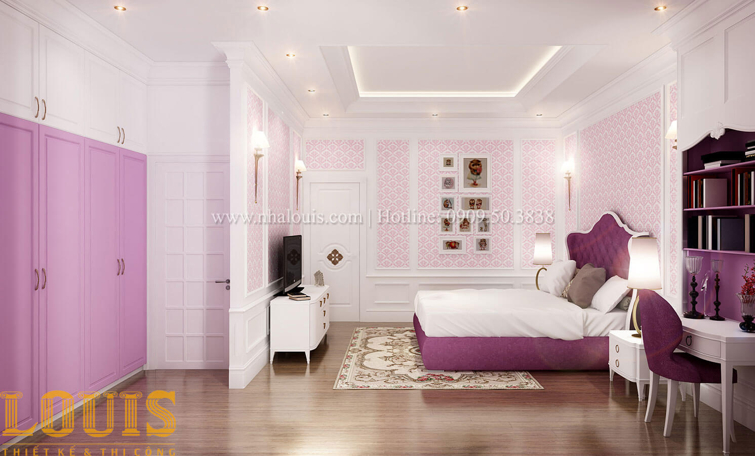 Phòng ngủ Thiết kế biệt thự 3 tầng đẹp có sân vườn ở miền quê Đồng Nai - 27