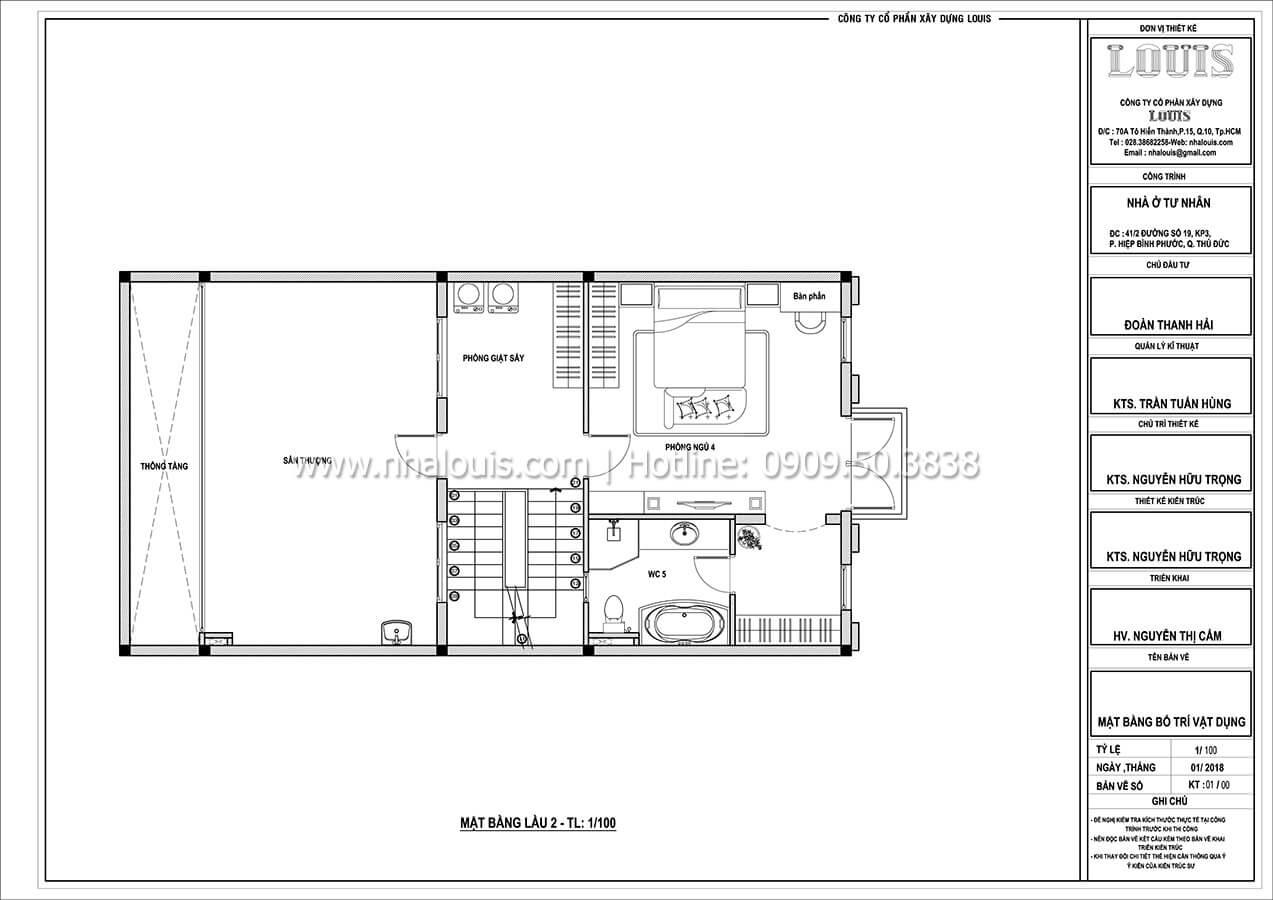 Mặt bằng tầng 2 Thiết kế biệt thự cổ điển Pháp đẹp hoa lệ tại Thủ Đức - 05