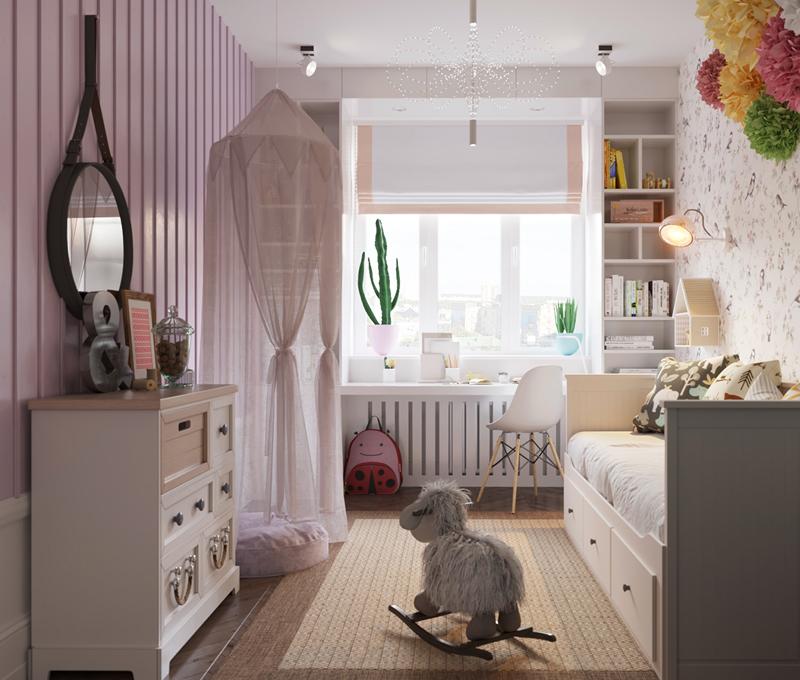 Thiết kế căn hộ chung cư 3 phòng ngủ hiện đại đầy màu sắc 13