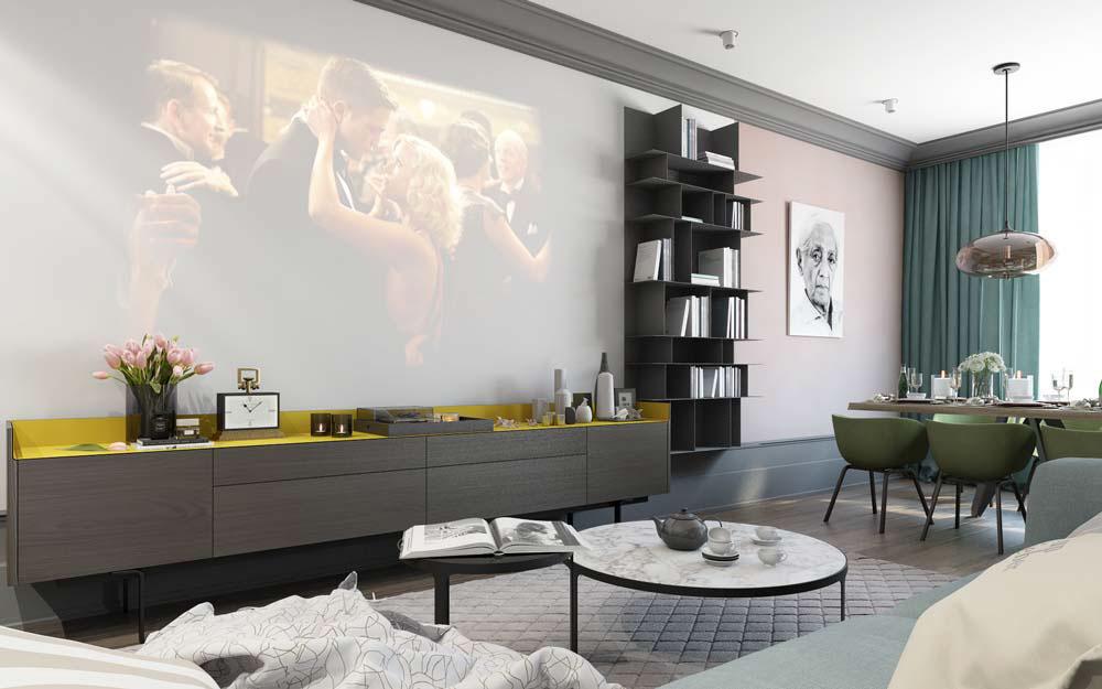 Thiết kế căn hộ chung cư 3 phòng ngủ hiện đại đầy màu sắc 2
