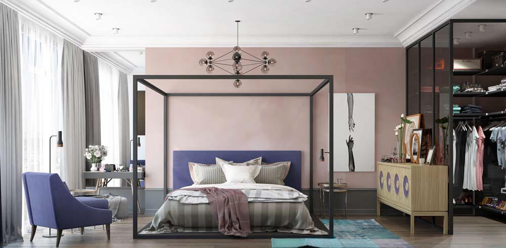 Thiết kế căn hộ chung cư 3 phòng ngủ hiện đại đầy màu sắc 7