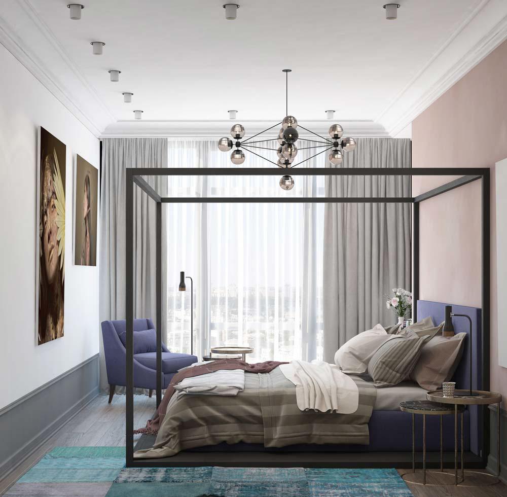 Thiết kế căn hộ chung cư 3 phòng ngủ hiện đại đầy màu sắc 8