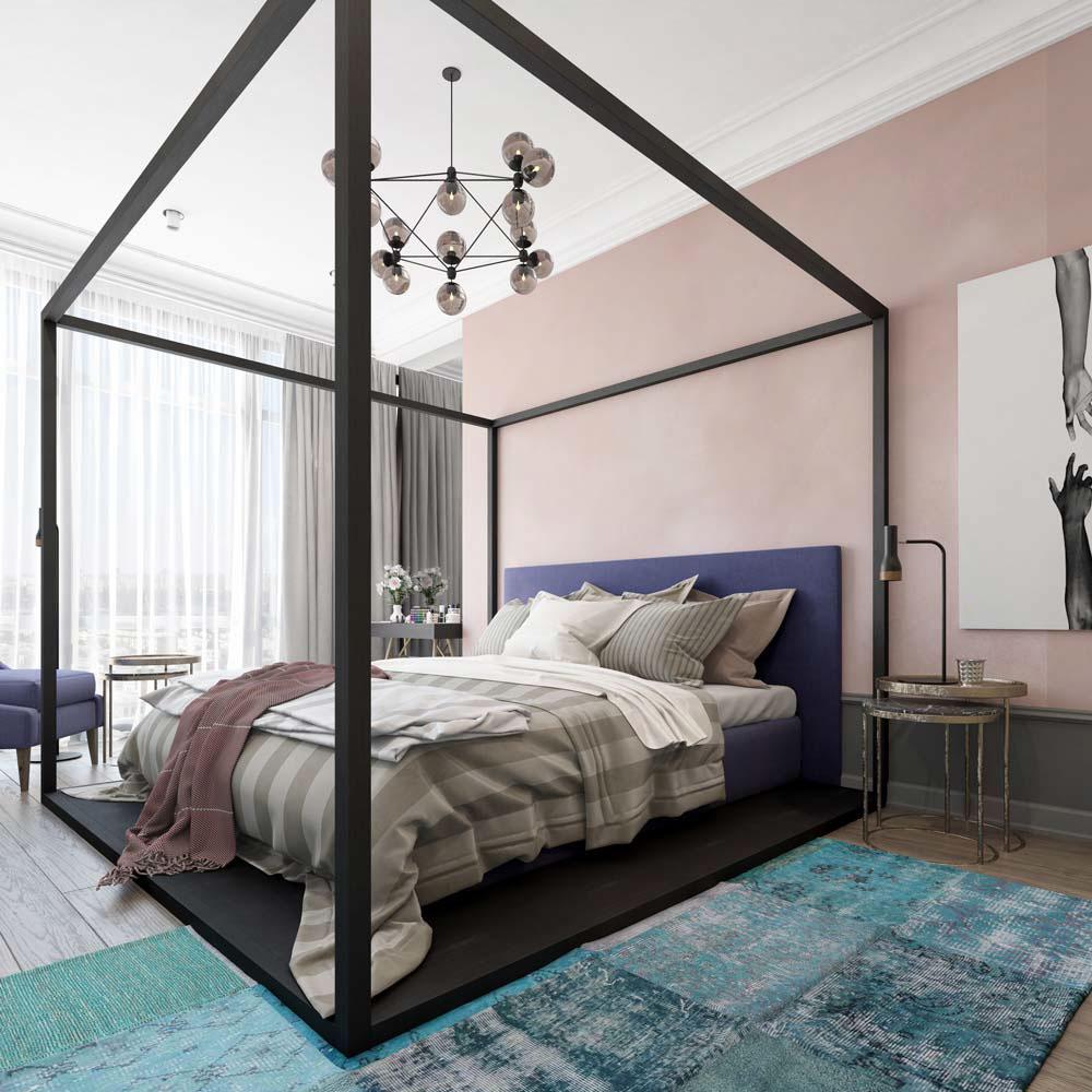 Thiết kế căn hộ chung cư 3 phòng ngủ hiện đại đầy màu sắc 9