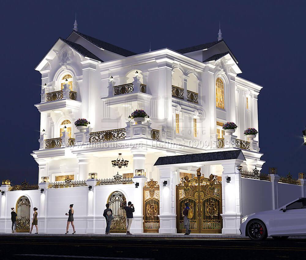 Thiết kế kiến trúc biệt thự tân cổ điển siêu sang tại Quảng Ngãi