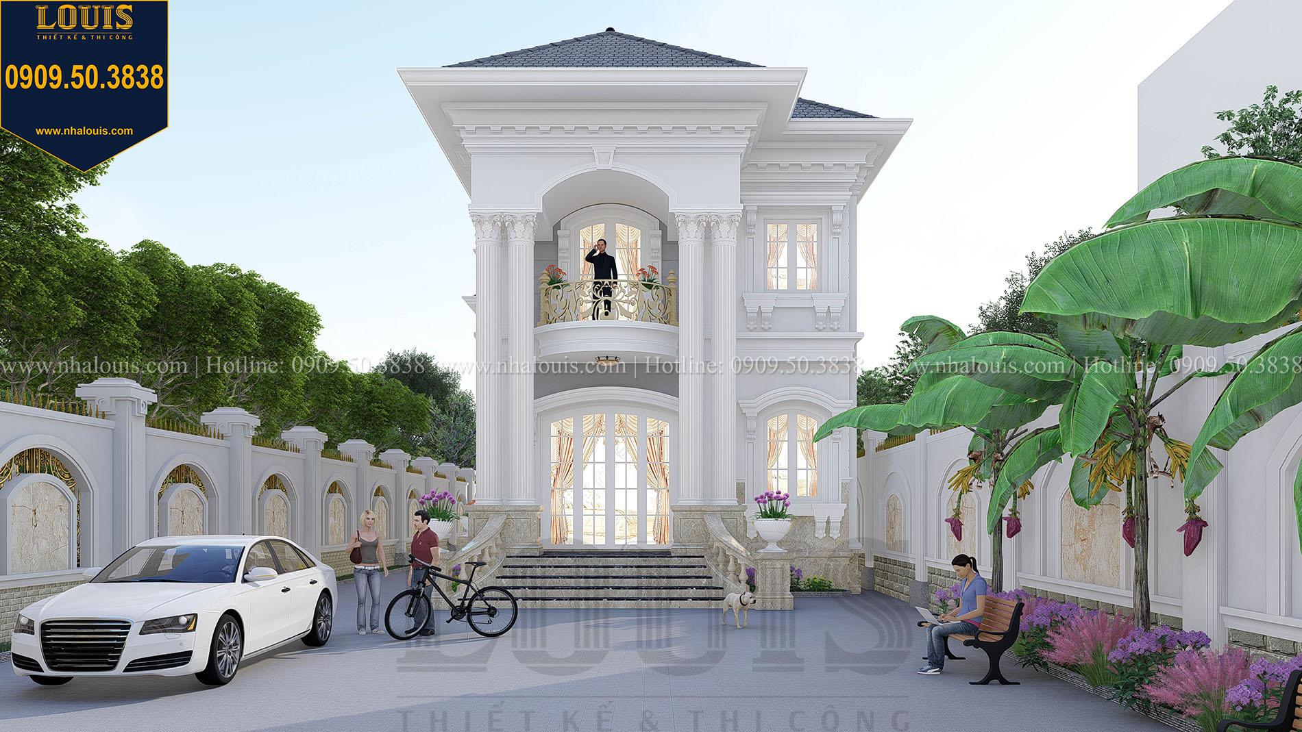 Mặt tiền Mẫu biệt thự đẹp 2 tầng tân cổ điển sang trọng tại Tây Ninh - 008