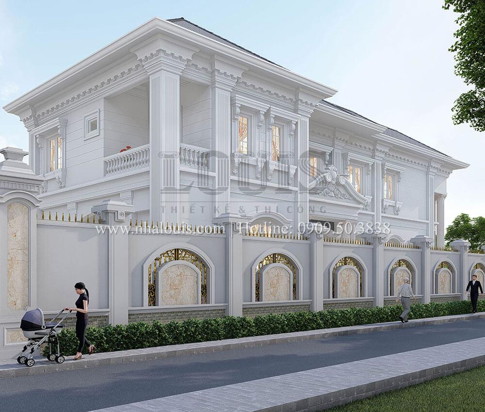 Cổng rào Mẫu biệt thự đẹp 2 tầng tân cổ điển sang trọng tại Tây Ninh