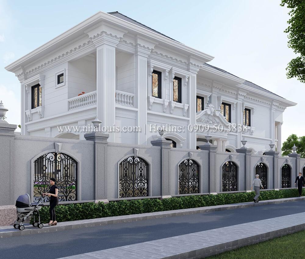 Thiết kế mẫu biệt thự đẹp 2 tầng tân cổ điển tại Tây Ninh