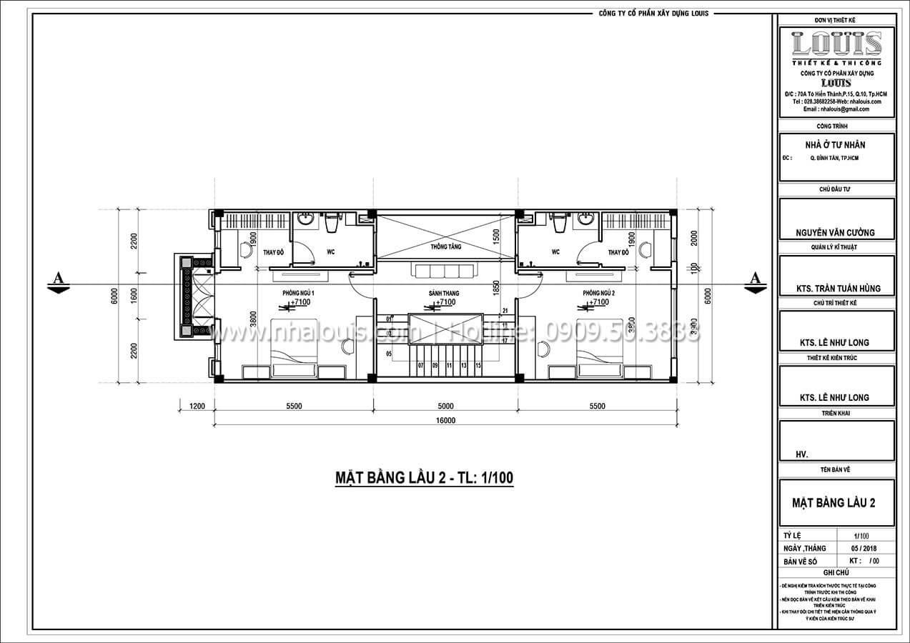 Thiết kế nhà theo phong cách tân cổ điển 4 tầng tại Bình Tân