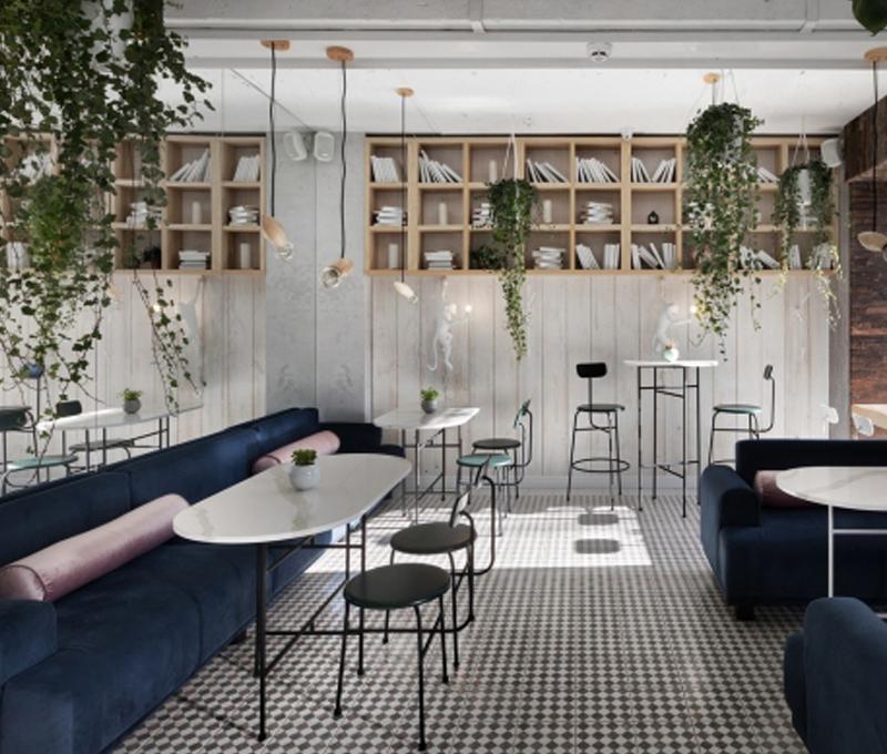 thiết kế quán cafe đơn giản đẹp thu hút được khách hàng