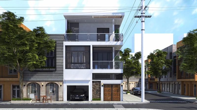 Xu hướng nhà 2 mặt tiền với phong cách thiết kế hiện đại