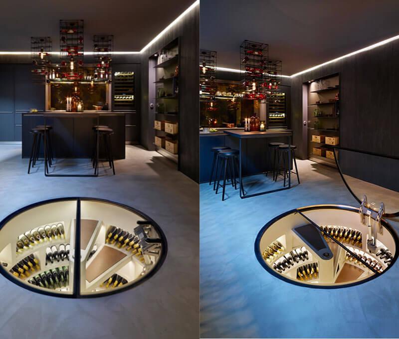 Biệt thự 2 tầng hiện đại và cách lưu trữ rượu độc đáo
