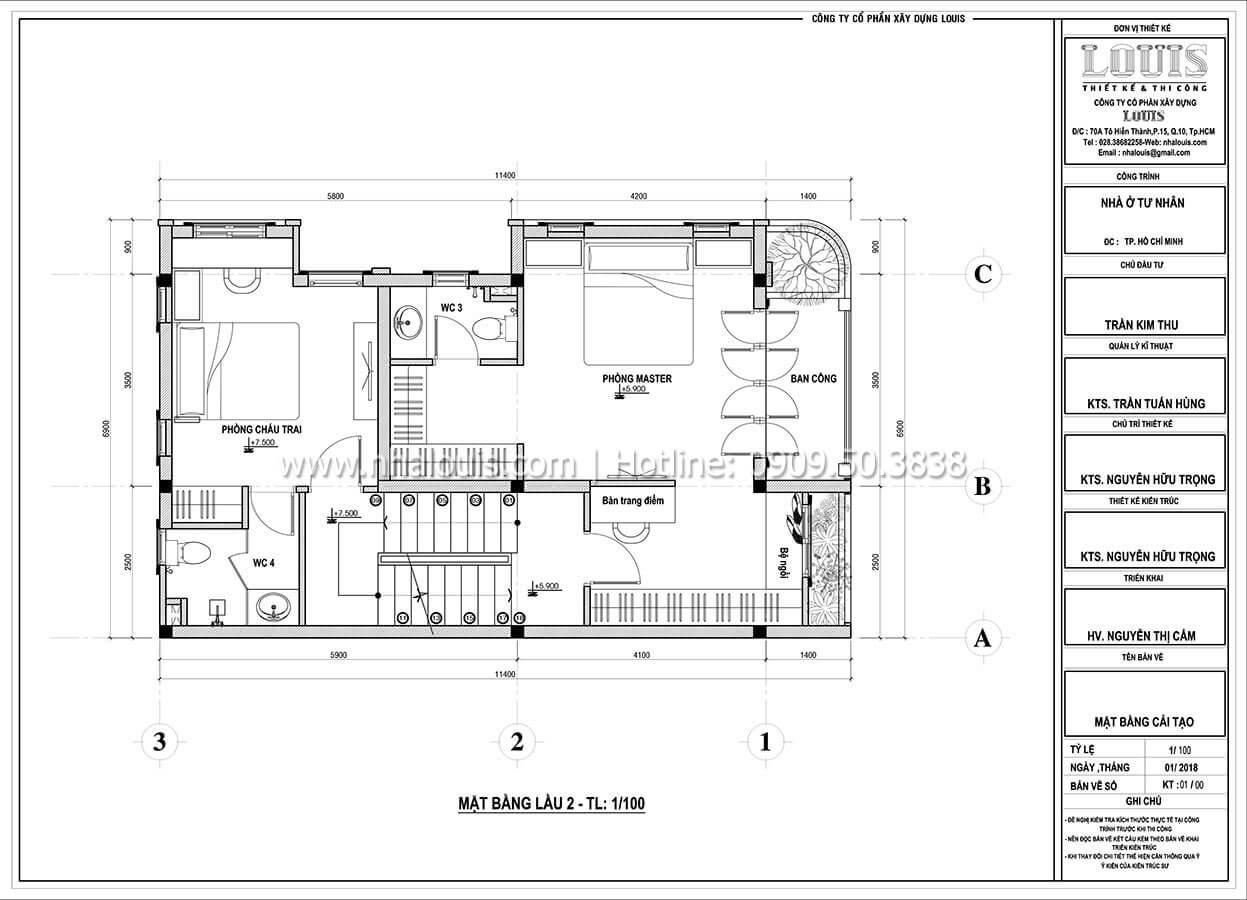 Mặt bằng tầng 2 Cải tạo nhà biệt thự phố cập nhật xu hướng mới tại Quận 10 - 06