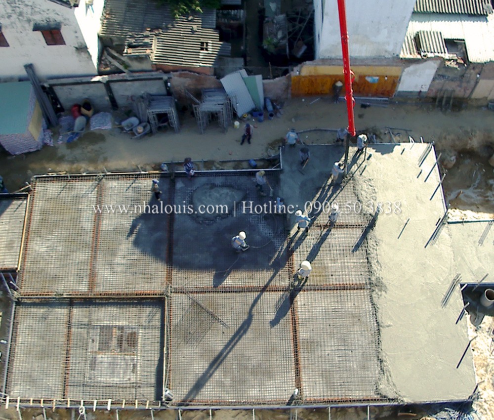 Đổ bê tông sàn tầng trệt biệt thự tân cổ điển tại Hội An [Video]