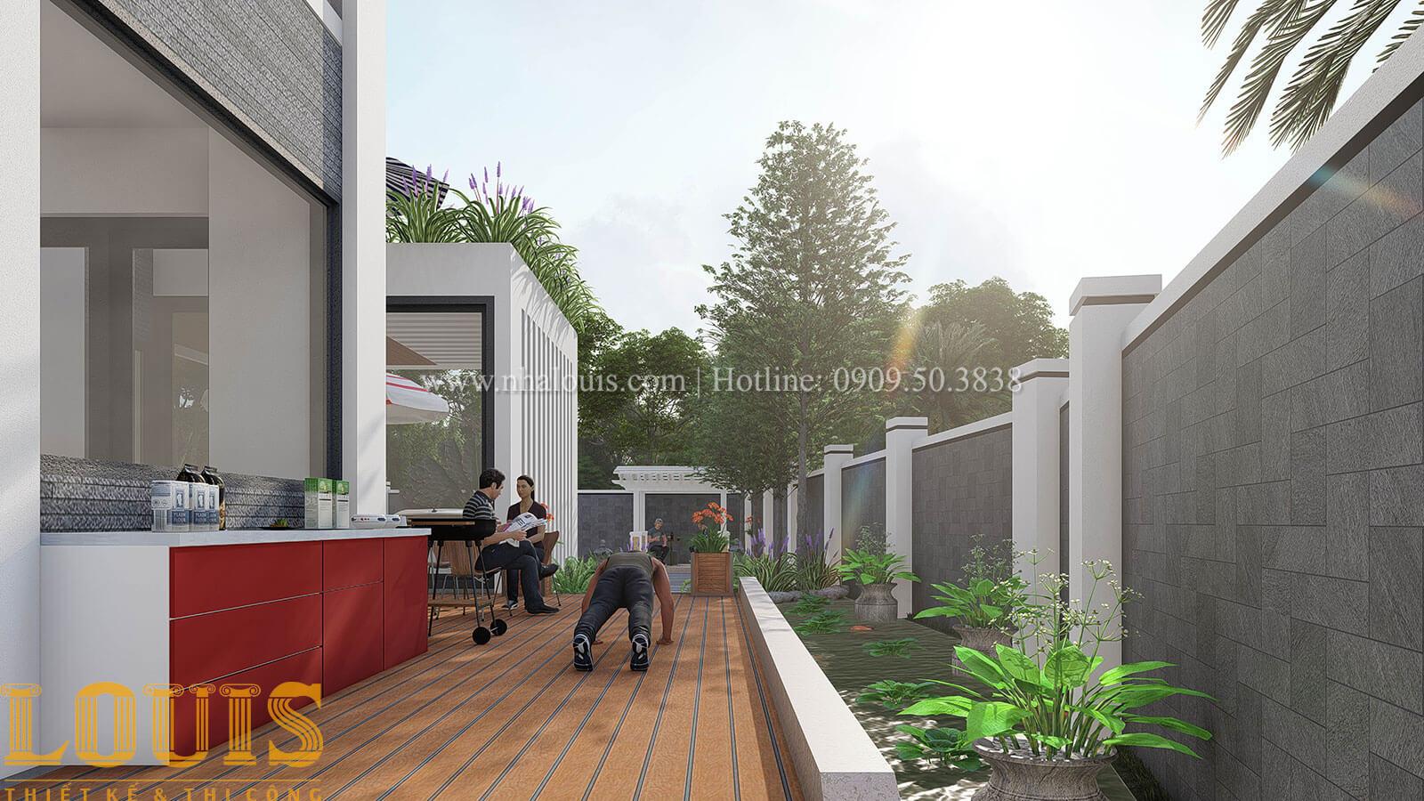 Mẫu biệt thự 2 tầng mái thái với sân vườn đẳng cấp tại Phú Quốc