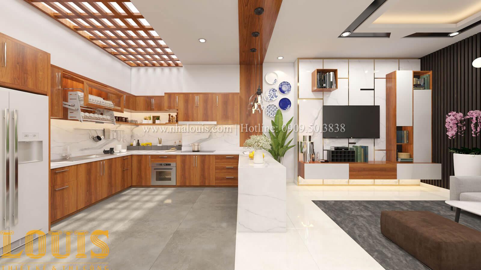 Bếp và phòng ăn Mẫu nhà 5 tầng đẹp hiện đại với thiết kế tối giản tại Tân Bình - 12