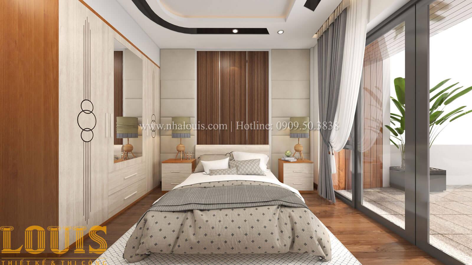Phòng ngủ ông bà Mẫu nhà 5 tầng đẹp hiện đại với thiết kế tối giản tại Tân Bình - 16