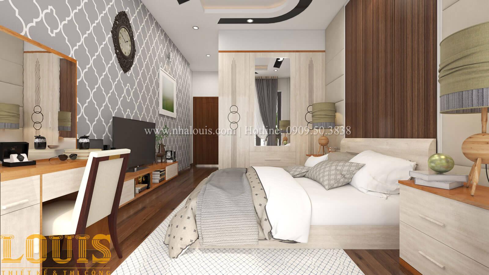 Phòng ngủ ông bà Mẫu nhà 5 tầng đẹp hiện đại với thiết kế tối giản tại Tân Bình - 18