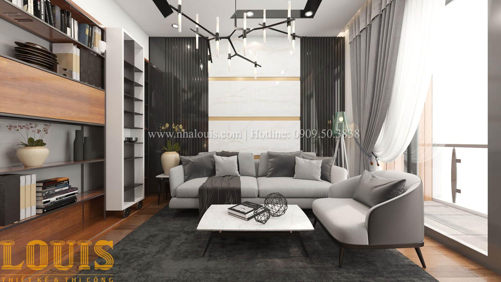 Phòng sinh hoạt chung Mẫu nhà 5 tầng đẹp hiện đại với thiết kế tối giản tại Tân Bình - 19