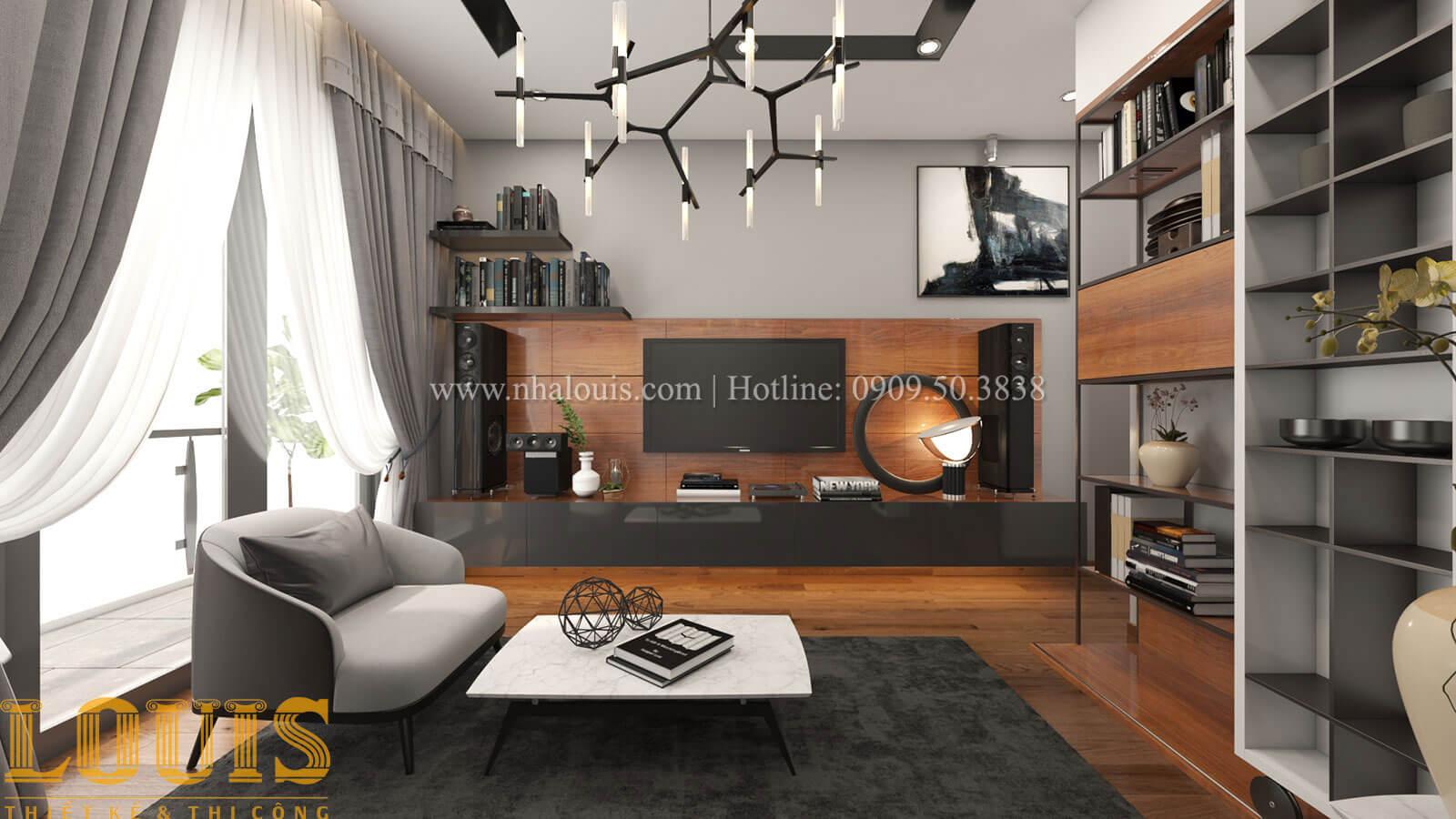 Phòng sinh hoạt chung Mẫu nhà 5 tầng đẹp hiện đại với thiết kế tối giản tại Tân Bình - 20