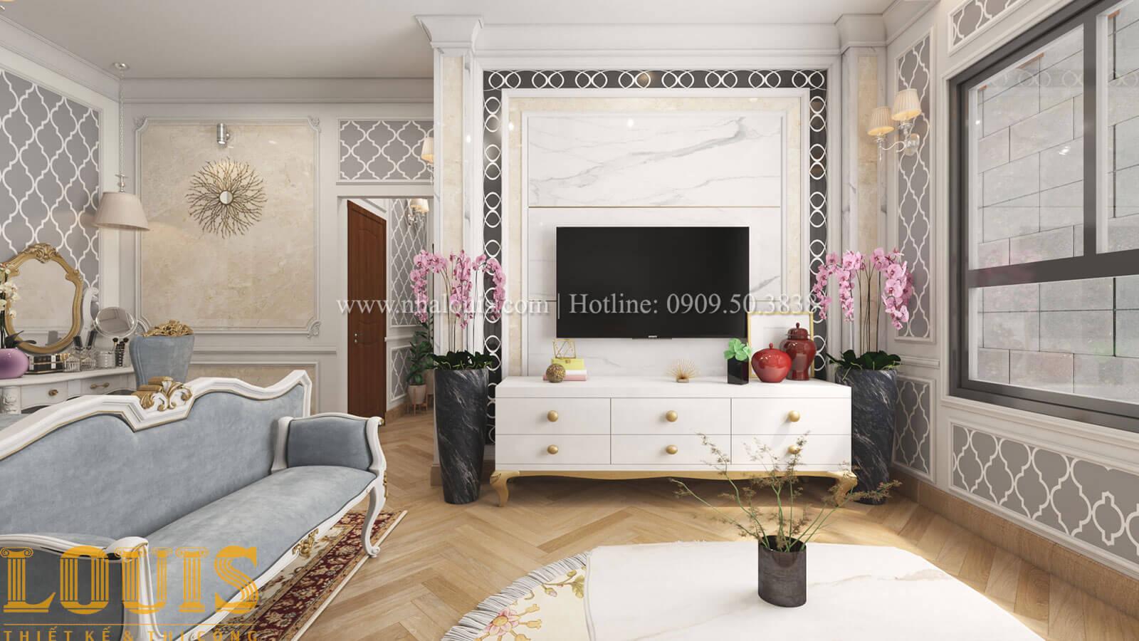 Phòng ngủ master Mẫu nhà 5 tầng đẹp hiện đại với thiết kế tối giản tại Tân Bình - 23