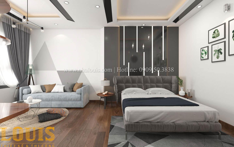 Phòng ngủ con trai Mẫu nhà 5 tầng đẹp hiện đại với thiết kế tối giản tại Tân Bình - 25
