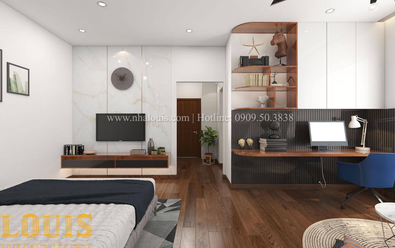 Phòng ngủ con trai Mẫu nhà 5 tầng đẹp hiện đại với thiết kế tối giản tại Tân Bình - 26