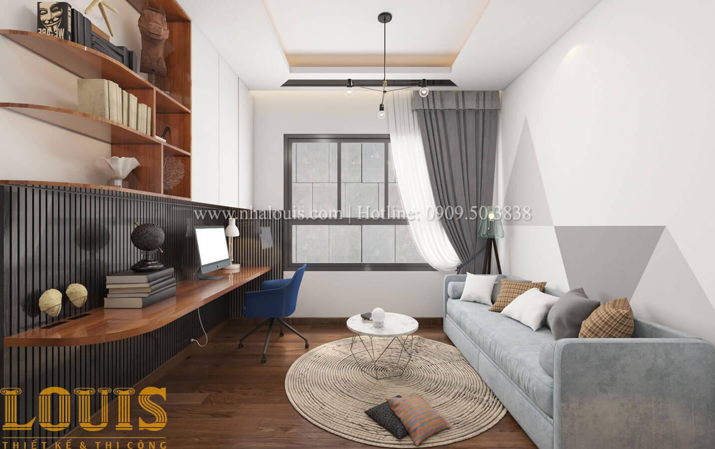 Phòng ngủ con trai Mẫu nhà 5 tầng đẹp hiện đại với thiết kế tối giản tại Tân Bình - 27