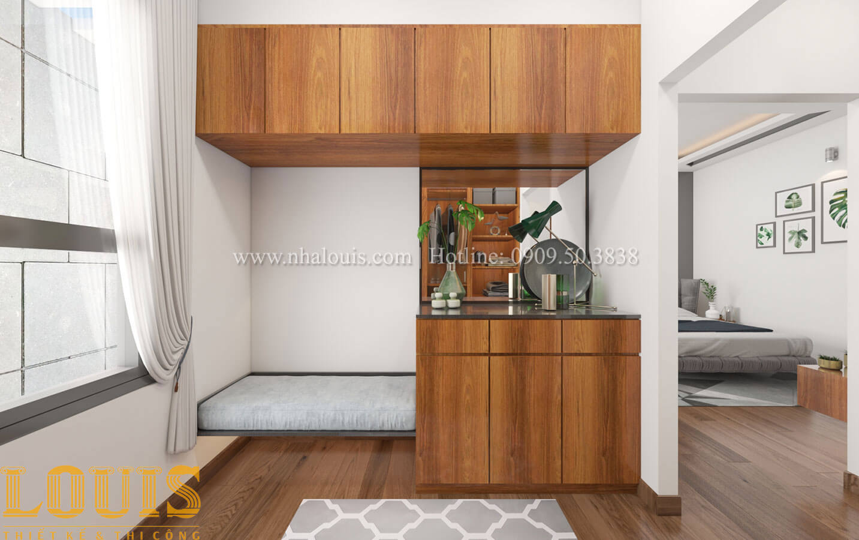 Phòng ngủ con trai Mẫu nhà 5 tầng đẹp hiện đại với thiết kế tối giản tại Tân Bình - 28